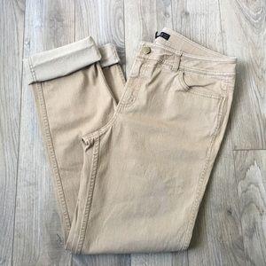 Lafayette 148 NY tan stretchy pants size 8